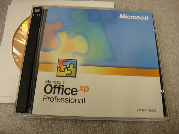 NEW Microsoft Office XP Professional Retail Version 2002 with additional CDs EK