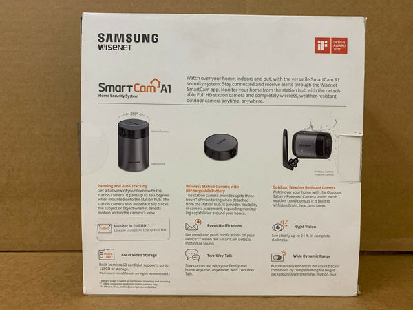 SNA-R1120W - Samsung Wisenet SmartCam A1 Outdoor/Indoor Home Security Camera