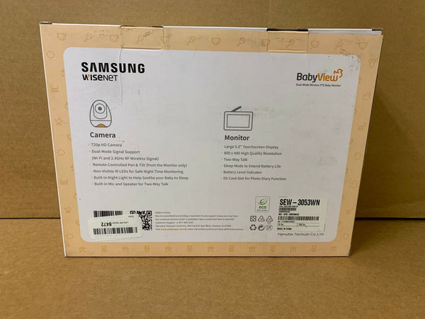 Samsung Wisenet SEW-3053W BabyView Wi-Fi Remote Viewing Baby Video Monitoring