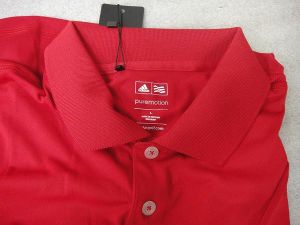 NWT Adidas Golf Shirt TW3022S4 Z85736 2014 L $50 RED EK