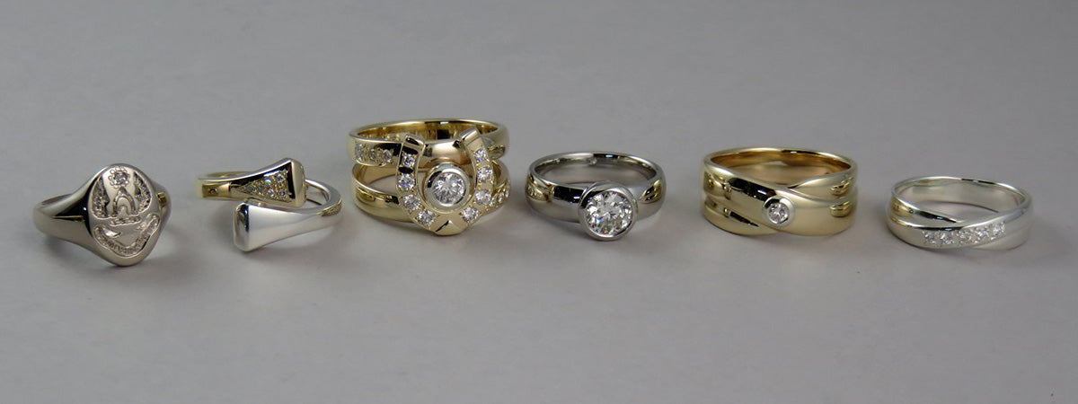 Assorted Diamond Rings Geoff Taylor Goldsmith and The Cambridge Collection