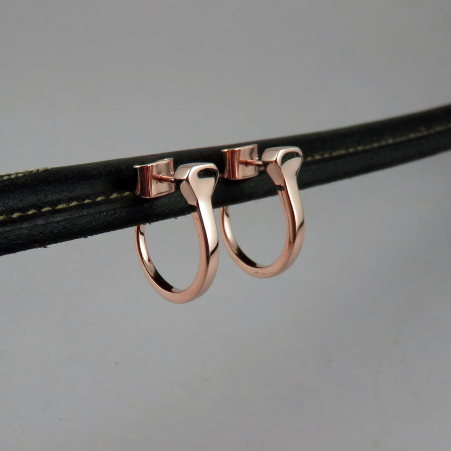 Equestrian Horseshoe Nail Hoop Earrings