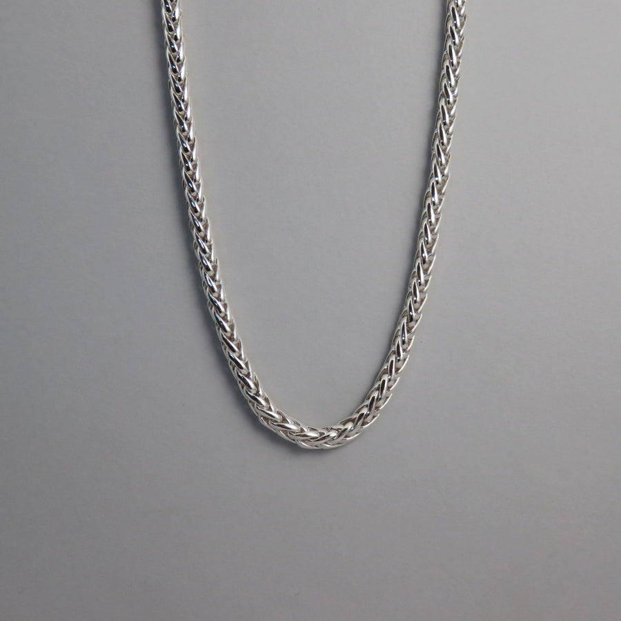 FXN50 5.0mm Silver Foxtail Necklace