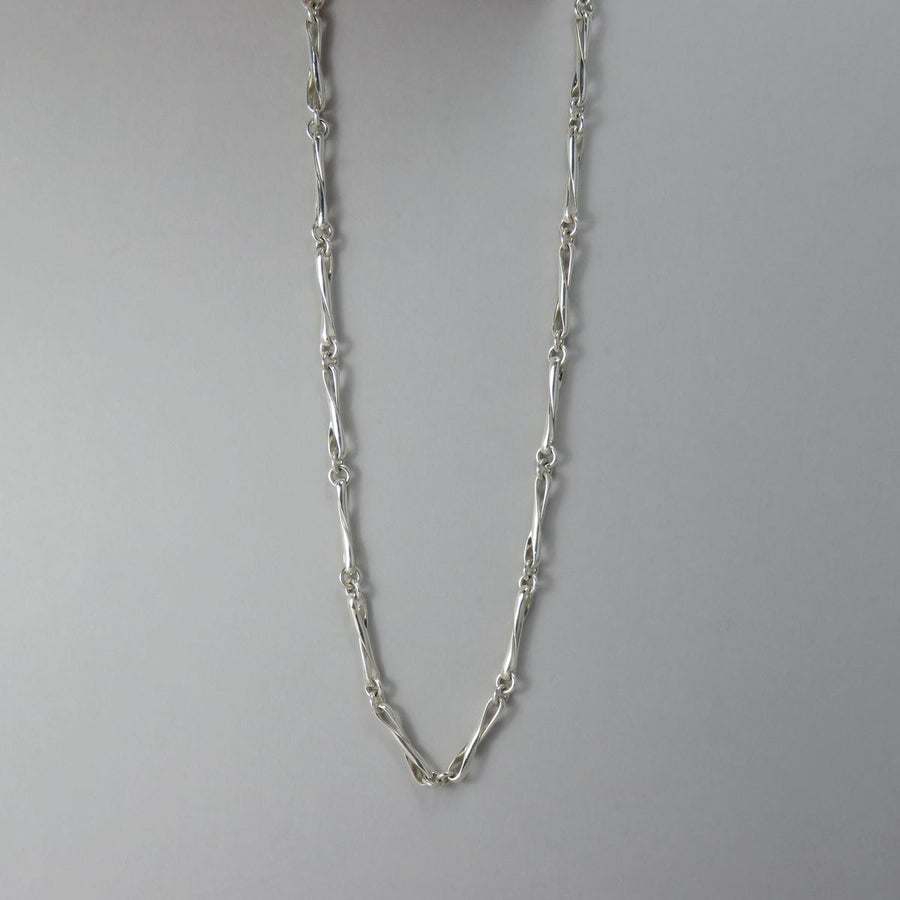 Assorted Sterling Silver Handmade Chain Necklaces