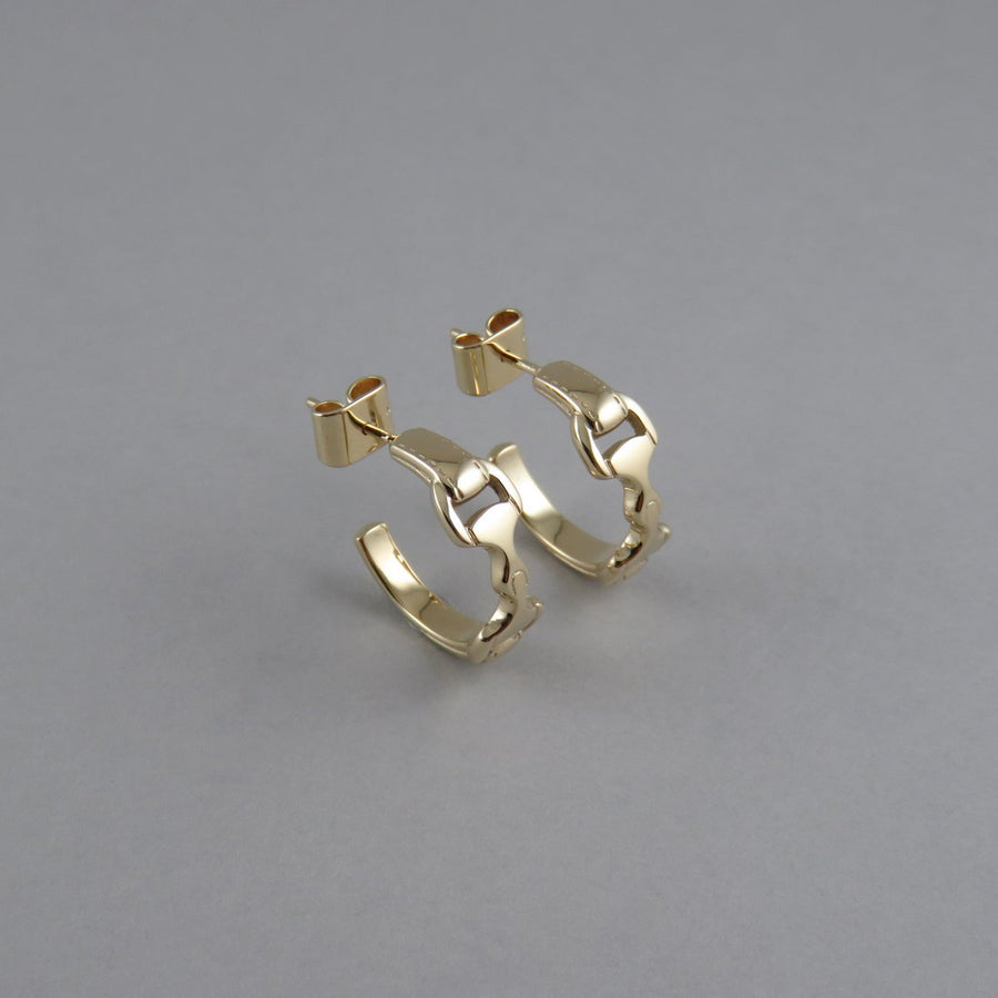 Equestrian Snaffle Bit Hoop Earrings