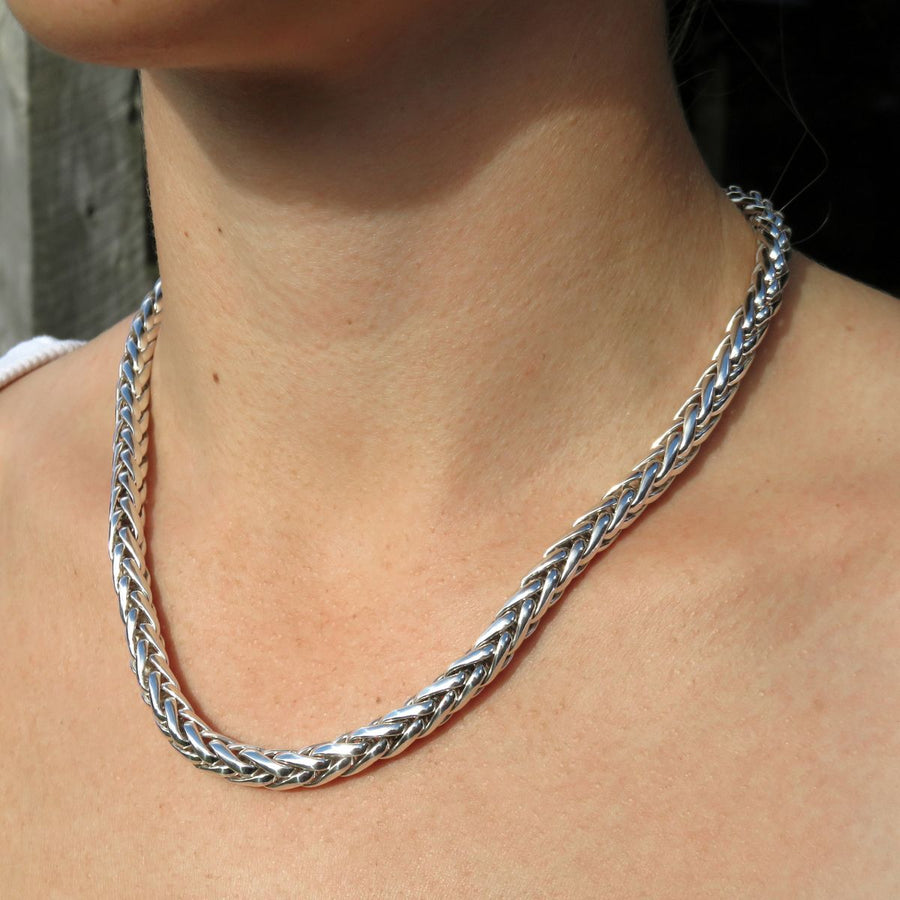 7.0mm Silver Foxtail Necklace