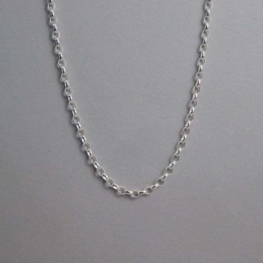 3.0mm Silver Belcher Necklace
