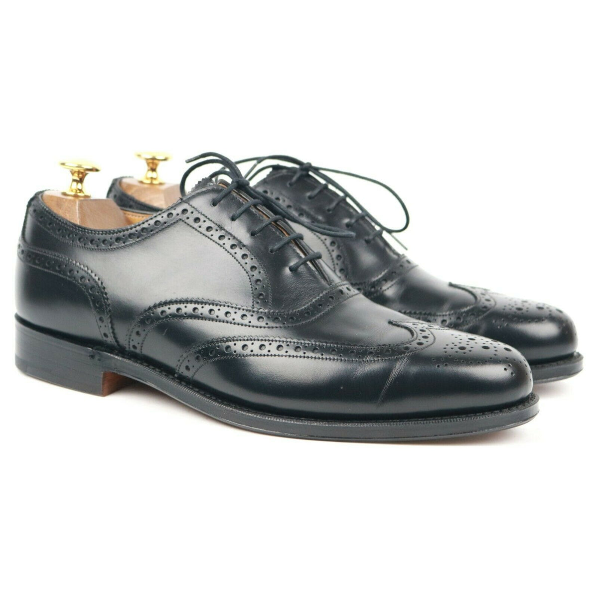 Cheaney 'Willesborough' Black Leather Brogues UK 7 E