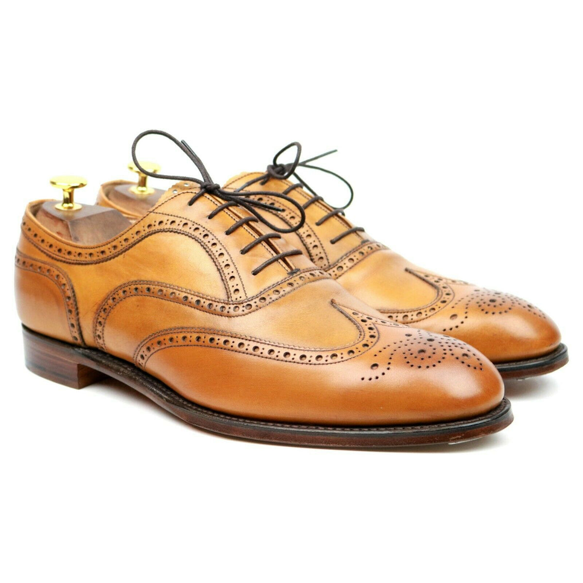 Cheaney 'Arthur III' Tan Brown Leather Brogues UK 10 F