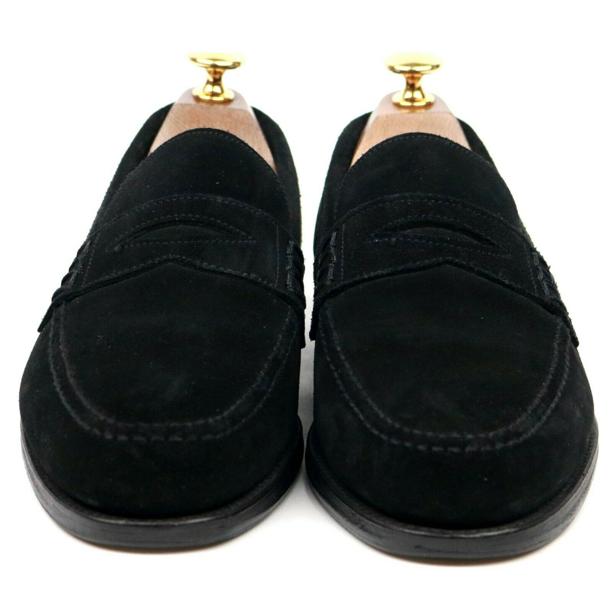 Alfred Sargent 'Finsbury' Black Suede Loafers UK 6 EX