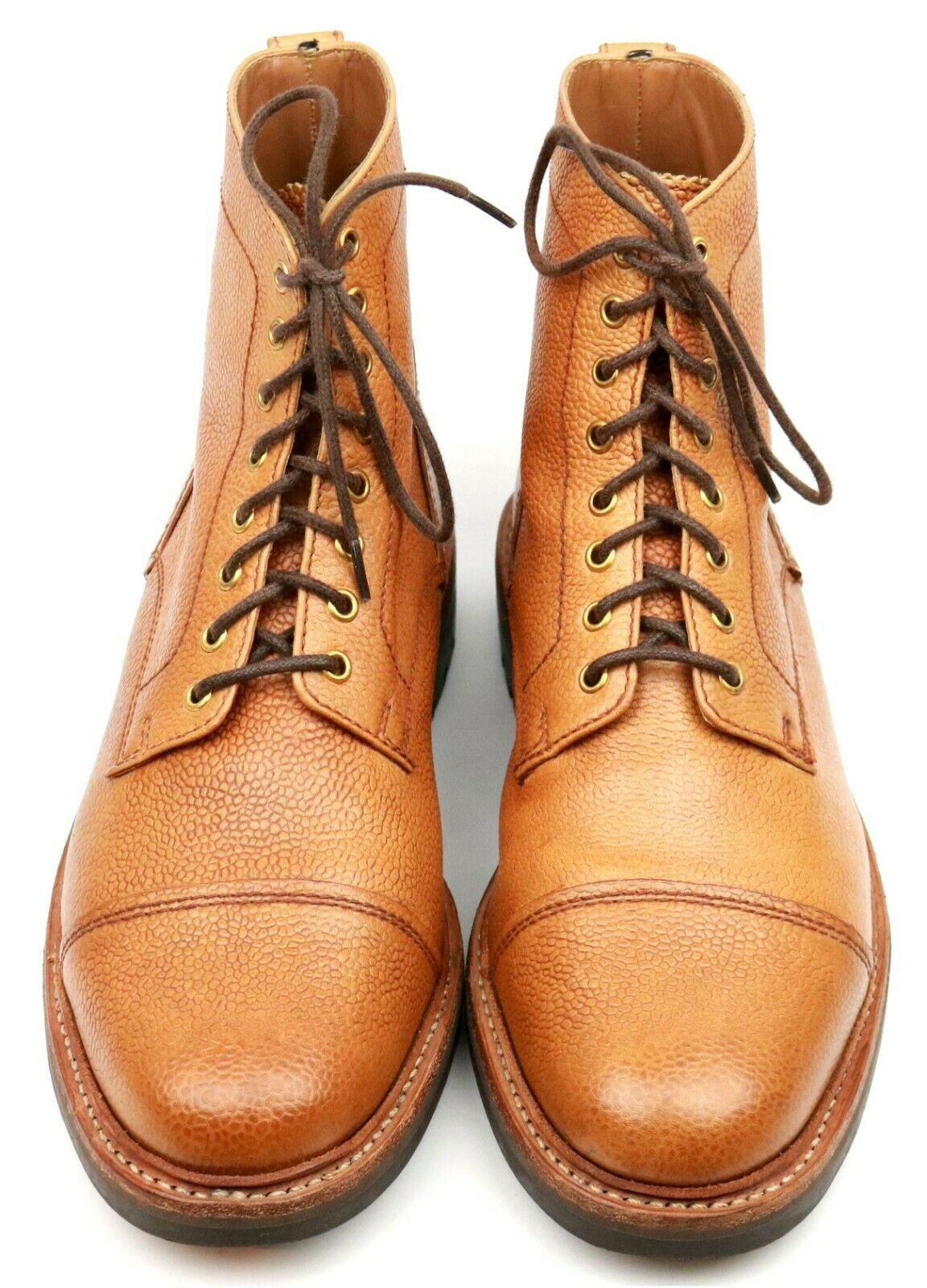Grenson 'Joseph' Tan Brown Leather Derby Boots UK 8 G