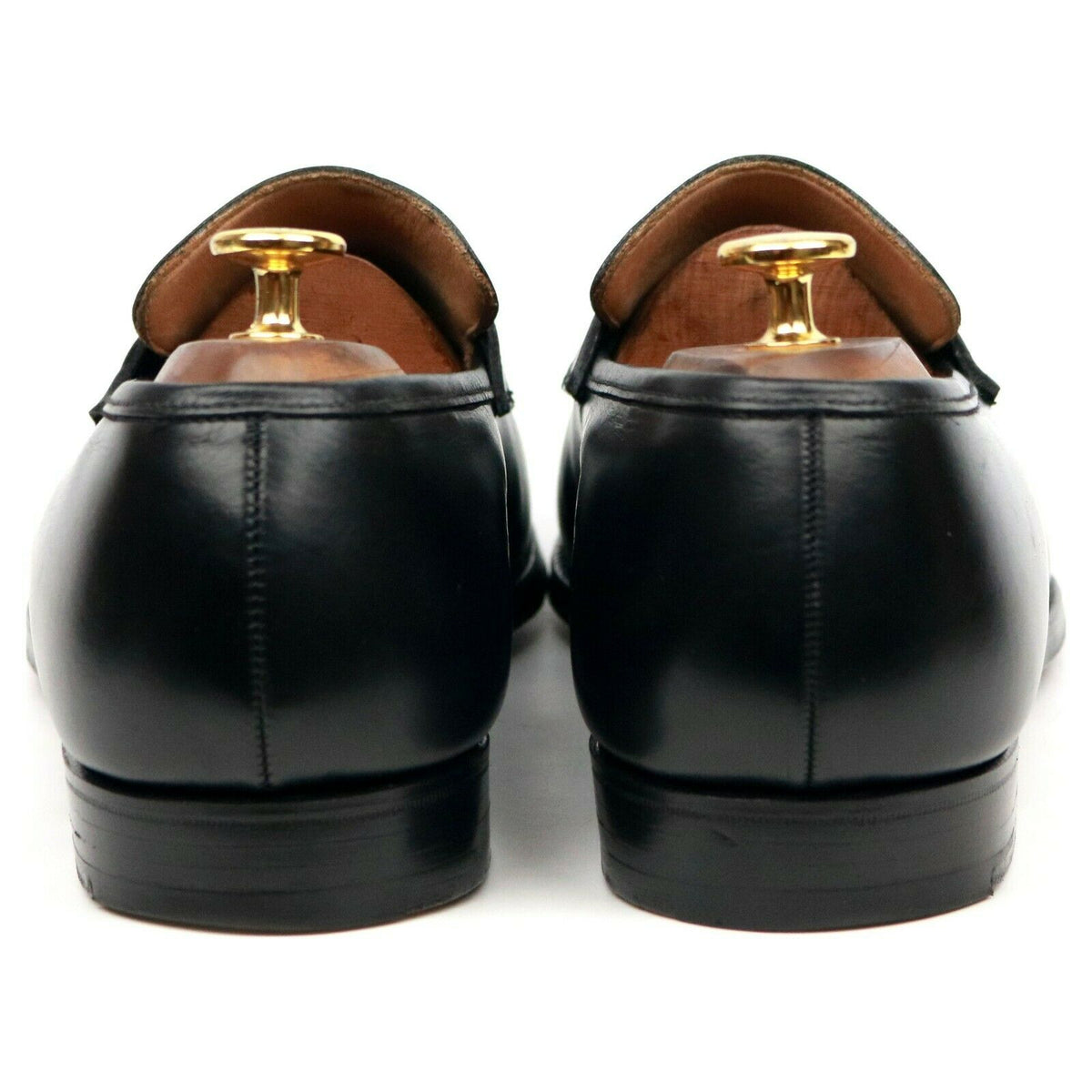 Crockett & Jones 'Merton' Black Leather Loafers UK 10 E