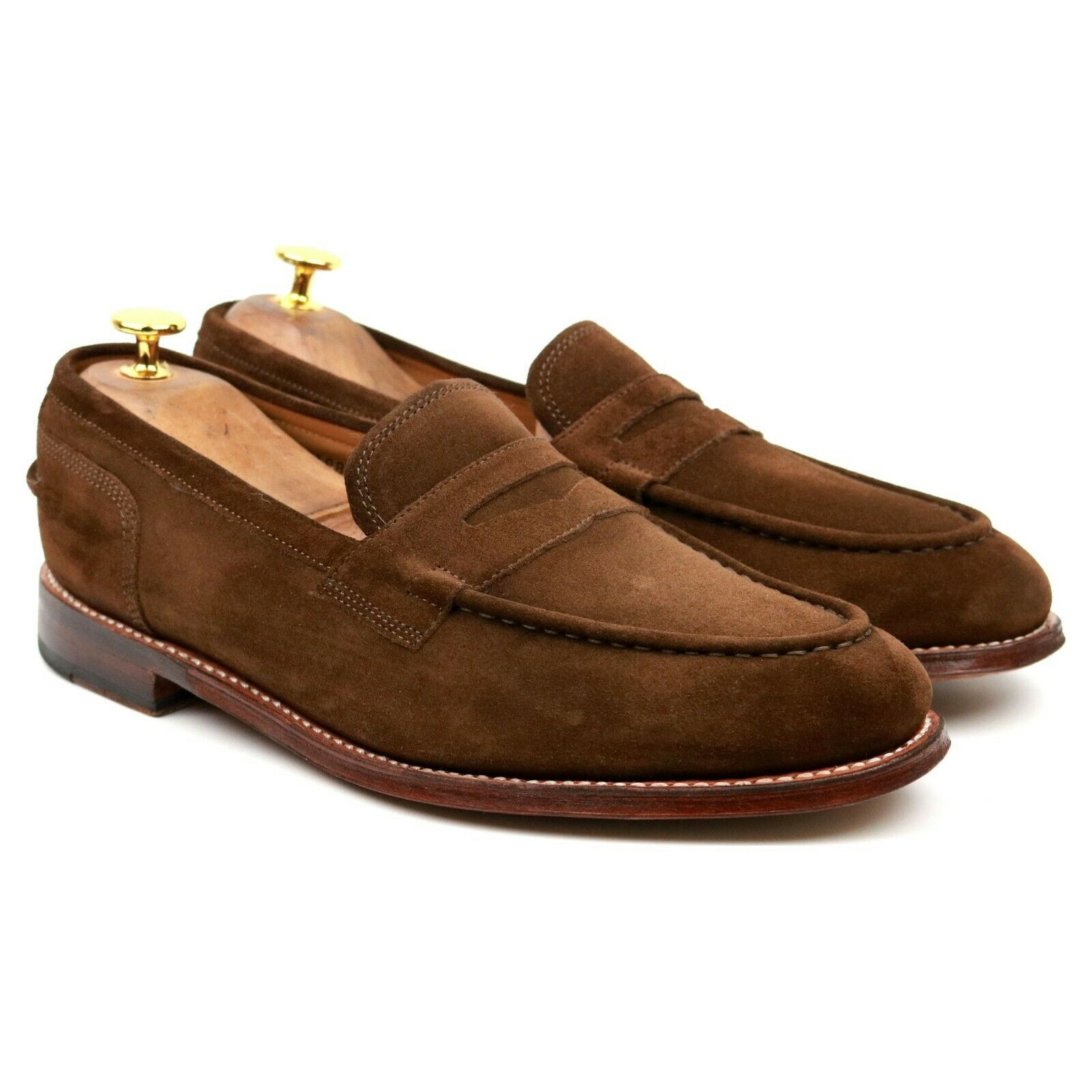 Grenson 'Maxwell' Brown Suede Leather Loafers UK 9 E