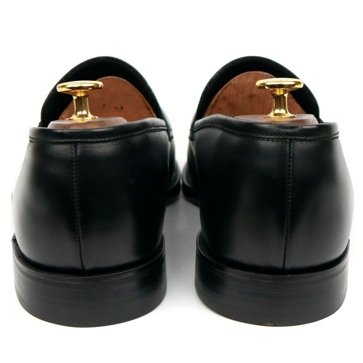 Loake 1880 'Whitehall' Black Leather Loafers UK 10 F