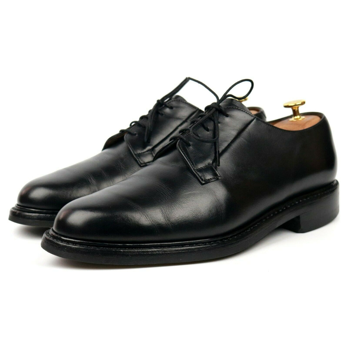 Cheaney 'Deal' Black Leather Derby UK 9 F