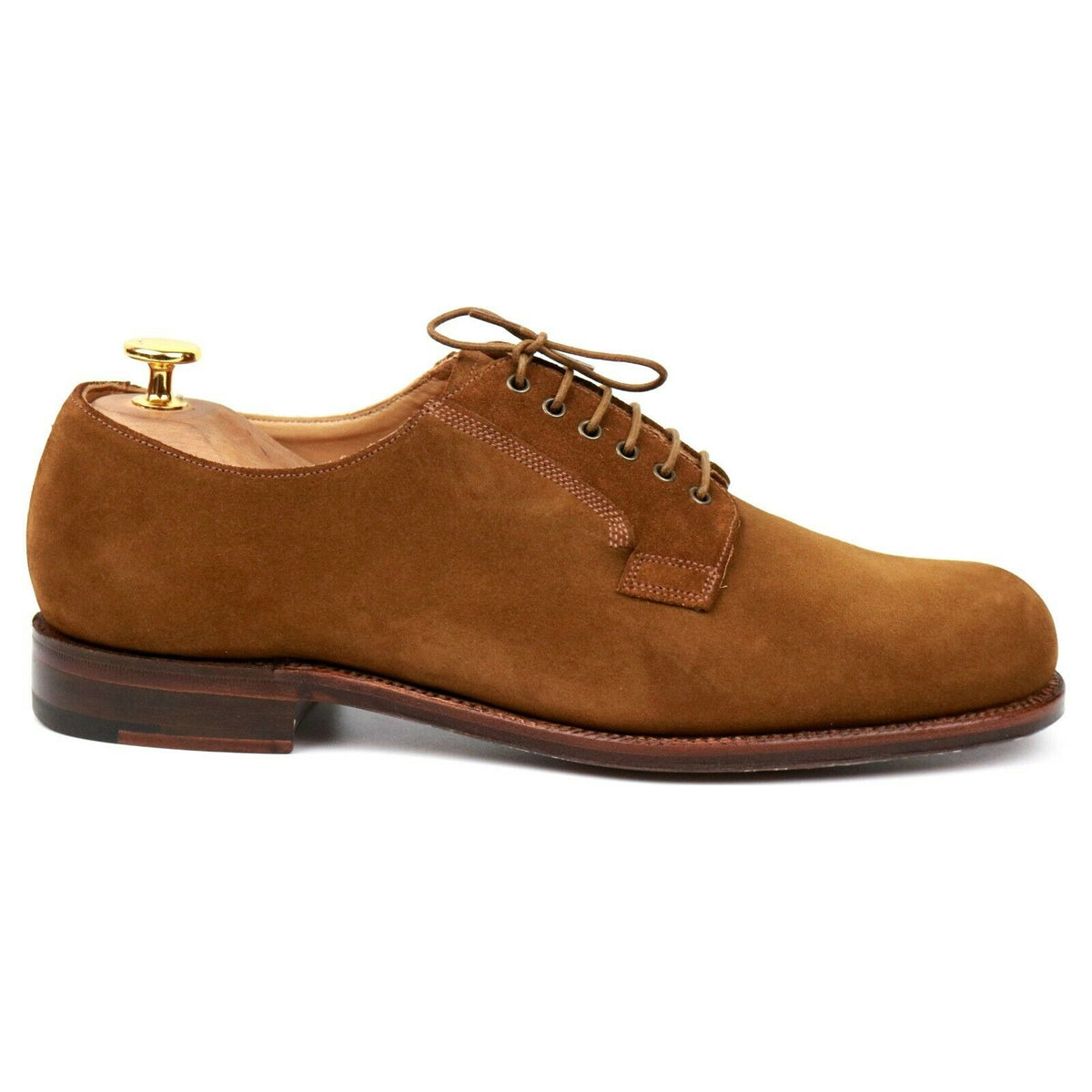 Grenson One 'Quentin' Tan Brown Suede Derby UK 8 E