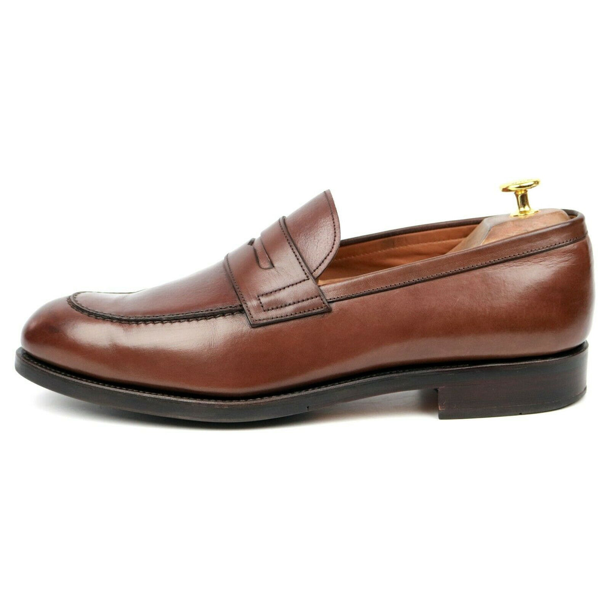 Carmina X Hackett 'Robert' Brown Leather Loafers UK 11 E