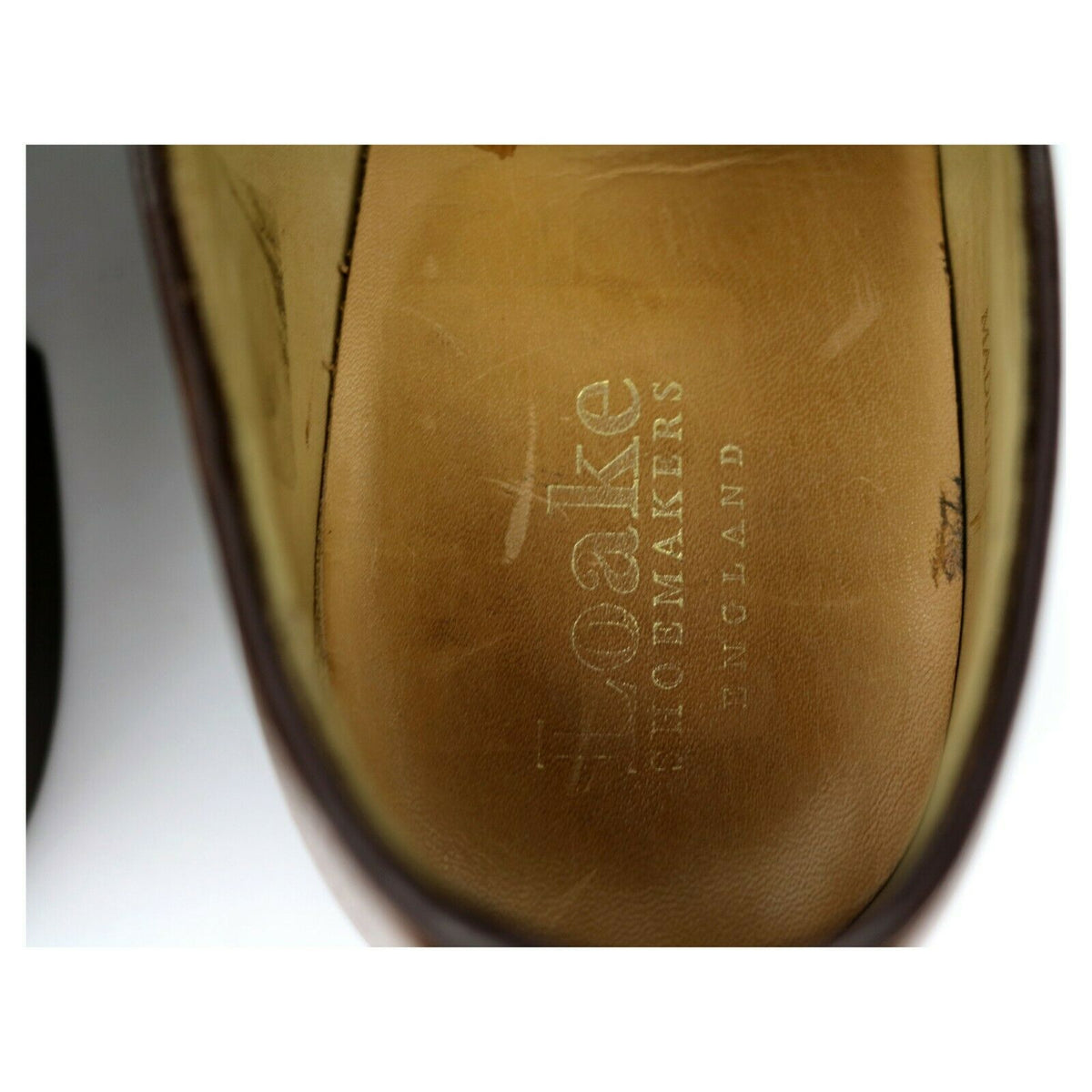 Loake Tan Brown Leather Derby UK 6.5 F
