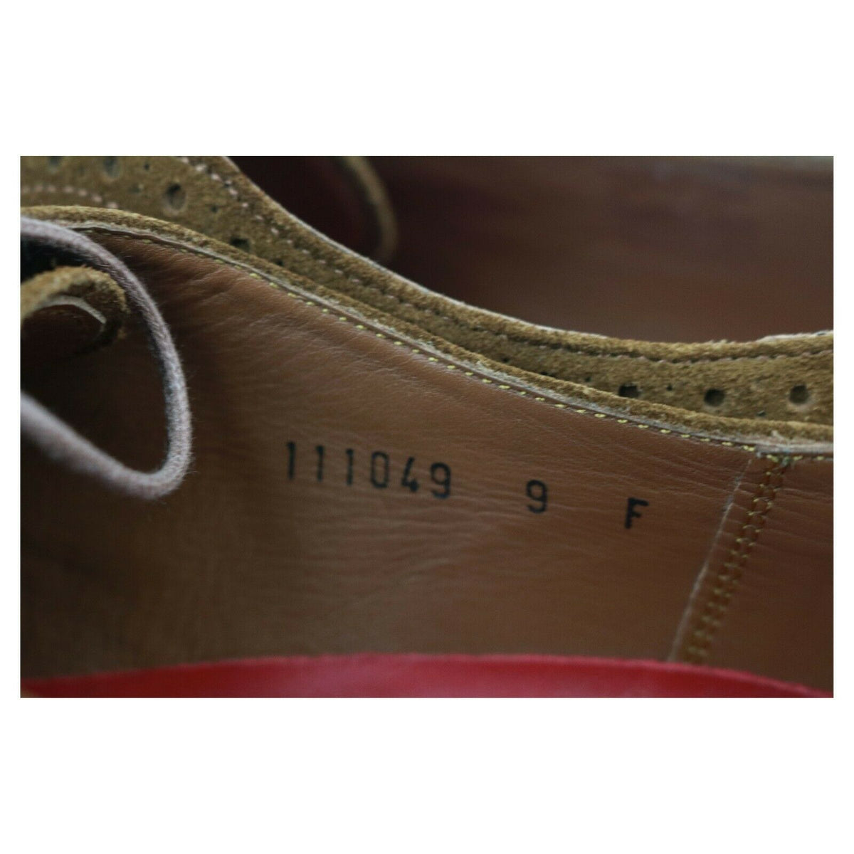 Grenson 'Stanley' Tan Brown Suede Brogues UK 9 F