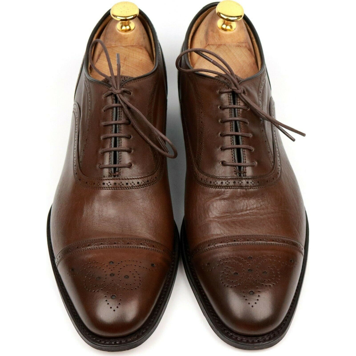 Church's 'Leek' Brown Leather Oxford Semi Brogues UK 7 F