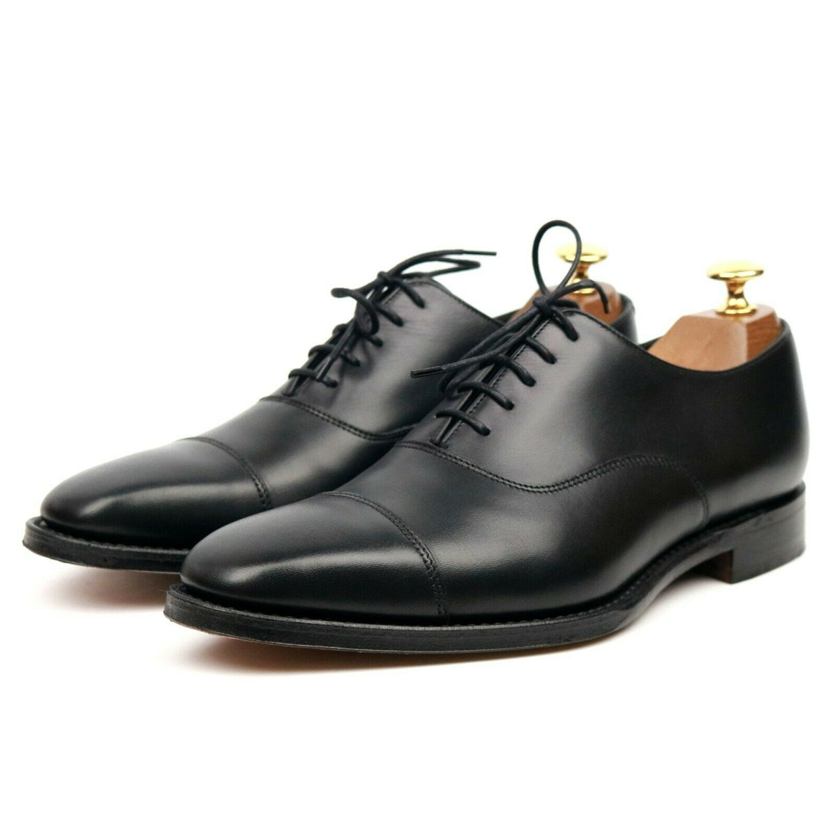 Loake 1880 'Rothschild' Black Leather Oxford UK 6 E