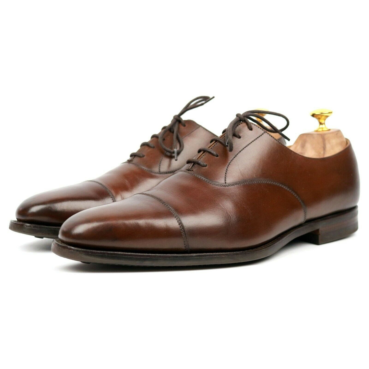 Crockett & Jones 'Hallam' Brown Leather Oxford UK 10 E
