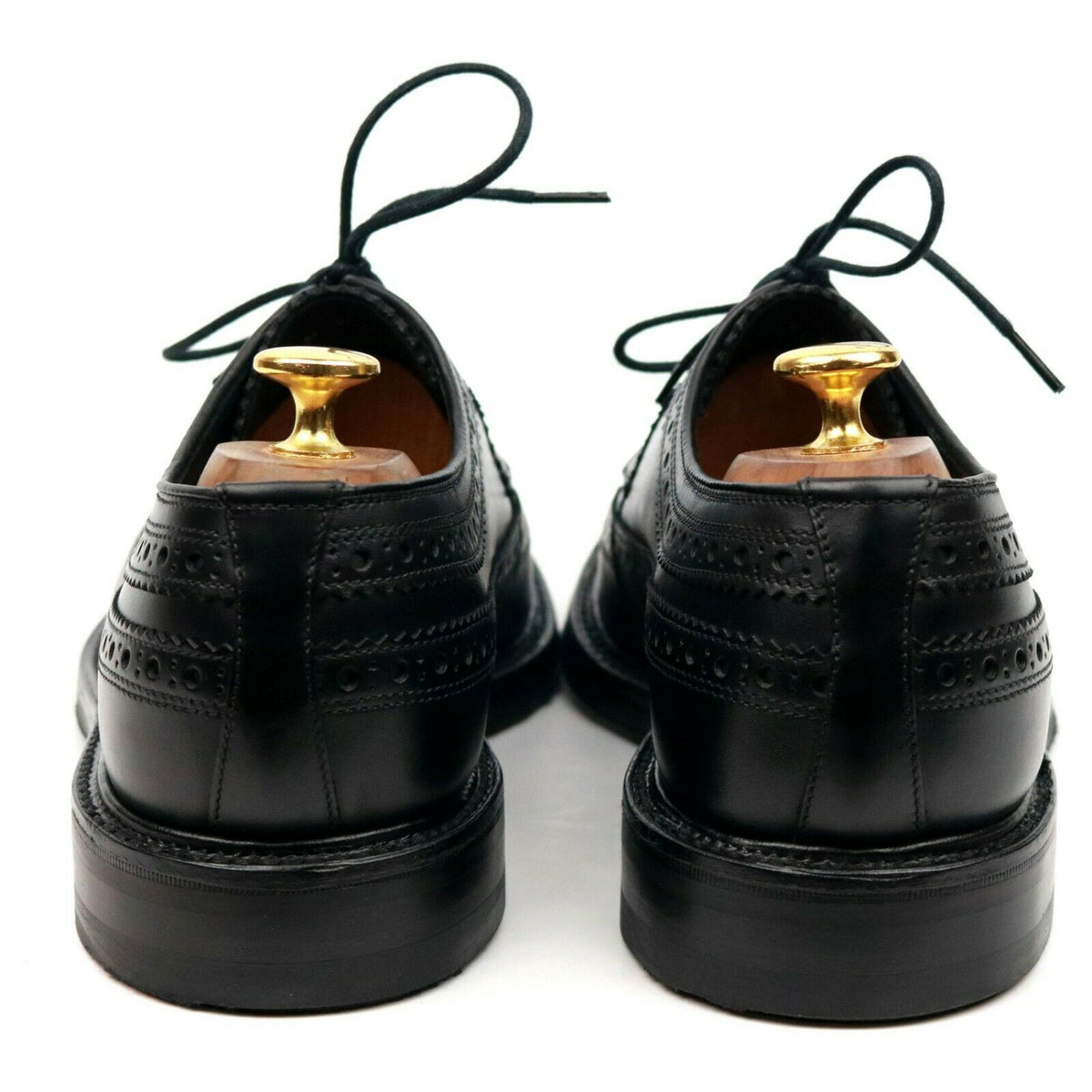 Loake 1880 Legacy 'Birkdale' Black Leather Derby Brogues UK 8 - 10