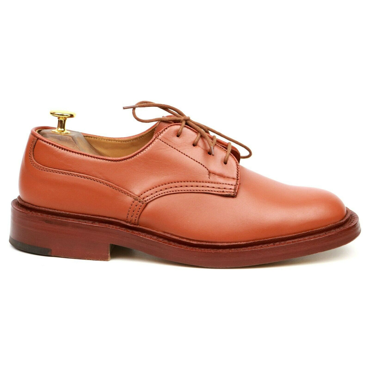 Tricker's 'Kendal' Tan Brown Leather Derby UK 6.5
