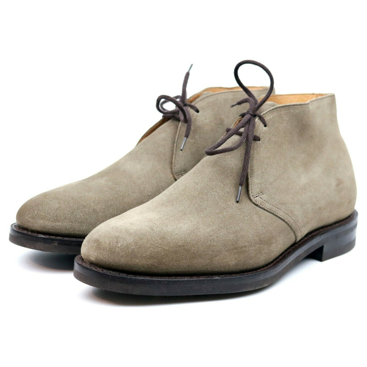 Church's 'Ryder 3' Beige Suede Chukka Boots UK 9 G