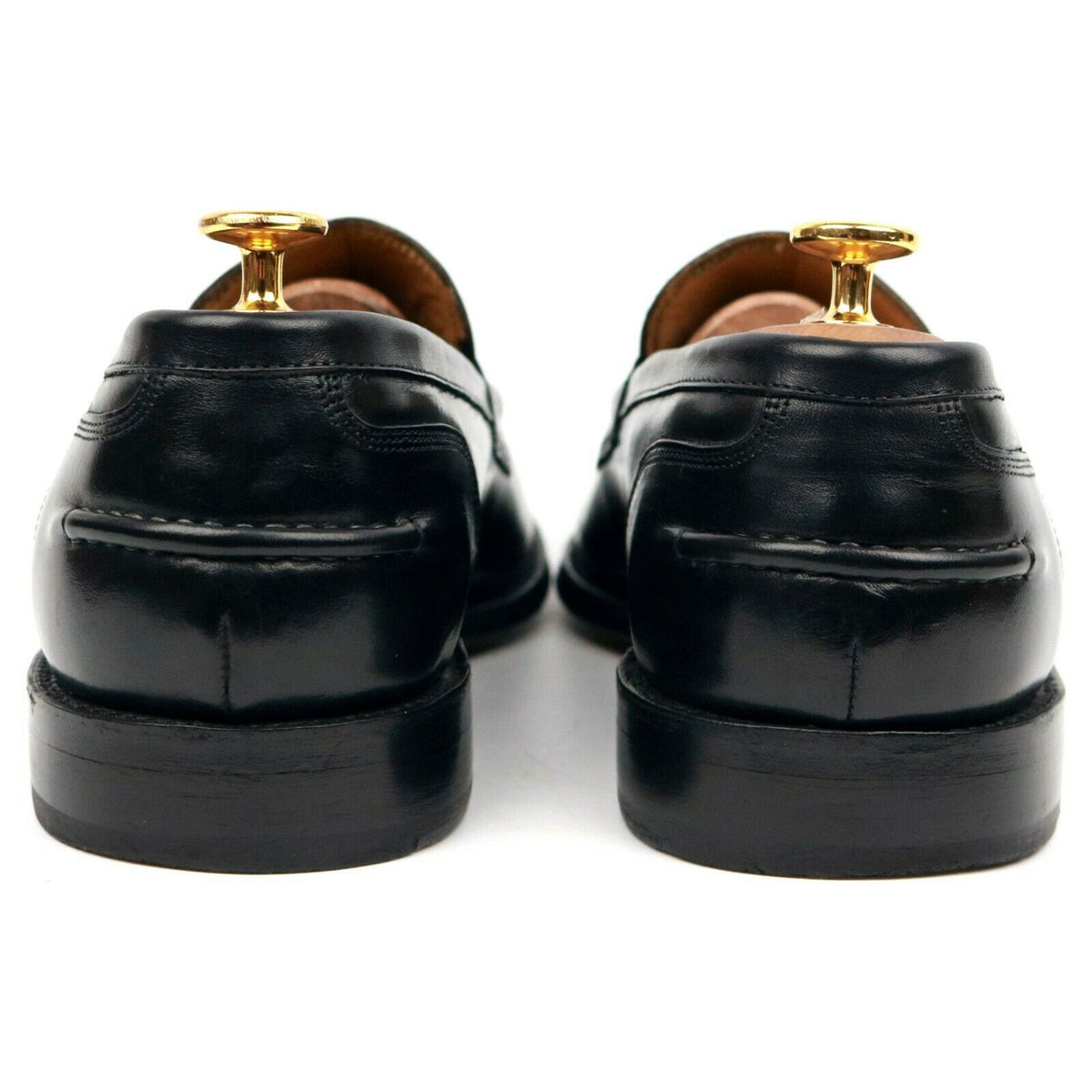 Grenson 'Maxwell' Black Leather Loafers UK 9 E