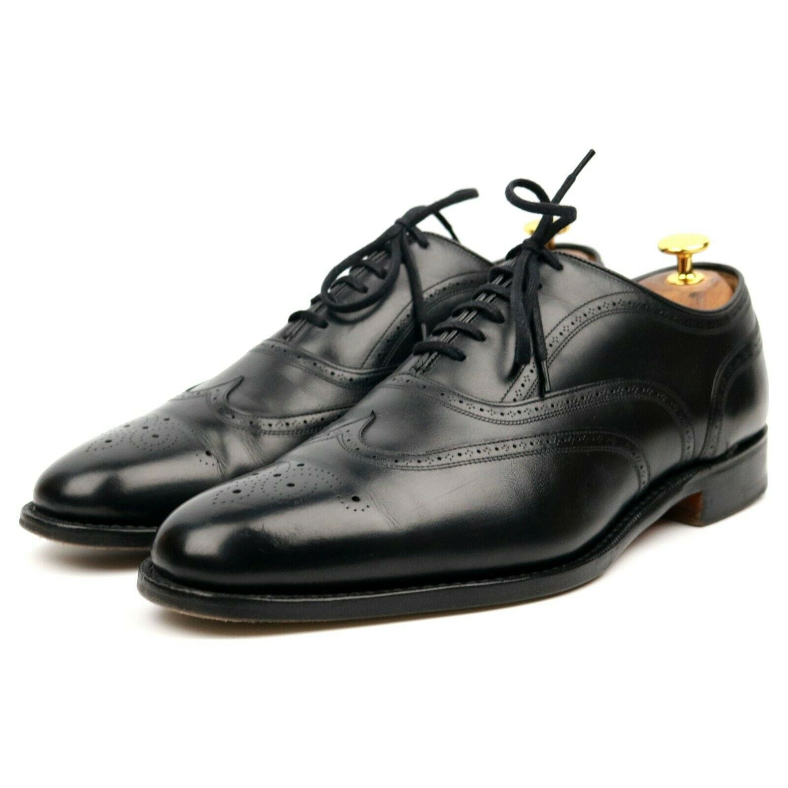 Church's 'Longton' Black Leather Brogues UK 8.5 F