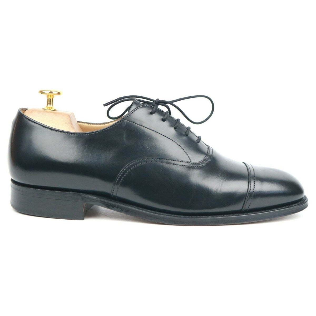 Cheaney Black Leather Oxford UK 7 G