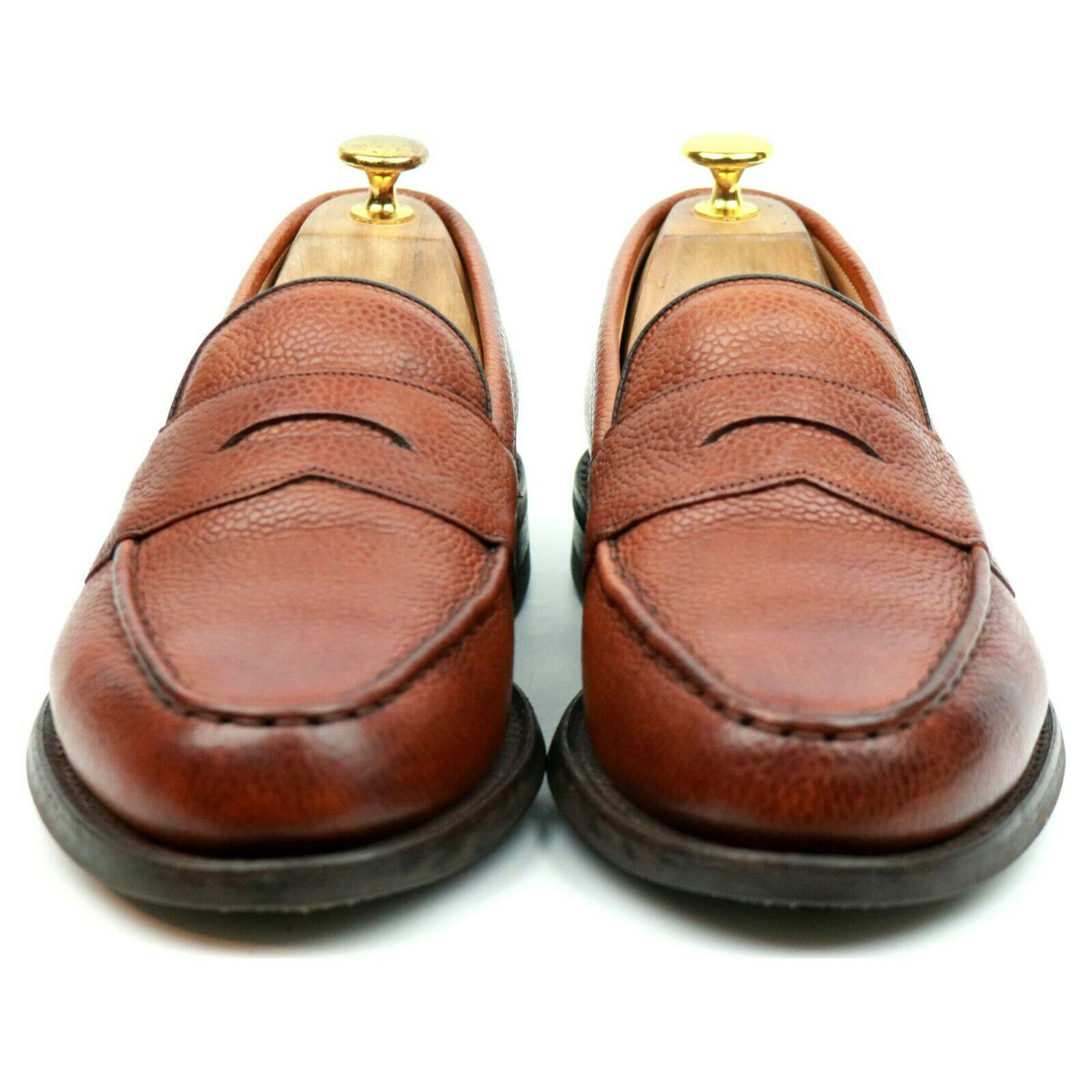Cheaney 'Howard' Tan Brown Leather Loafers UK 7.5 F