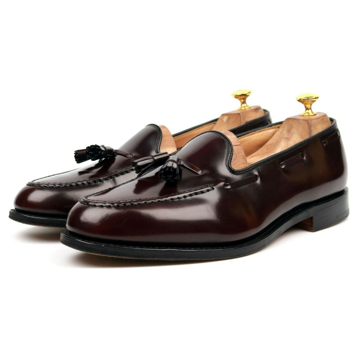 Church's 'Keats II' Burgundy Leather Tassel Loafers UK 11 F