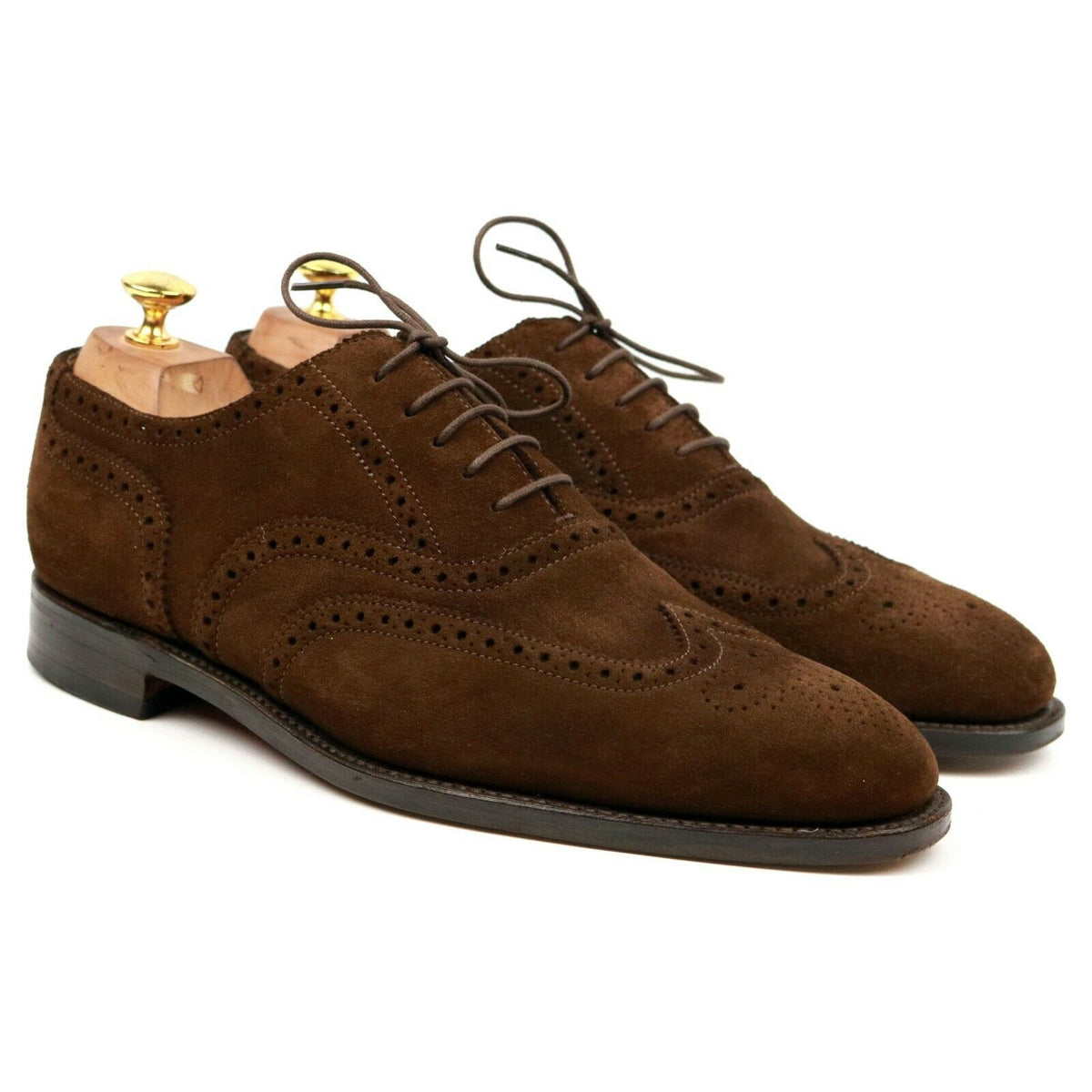 Loake Brown Suede Brogues UK 9 F