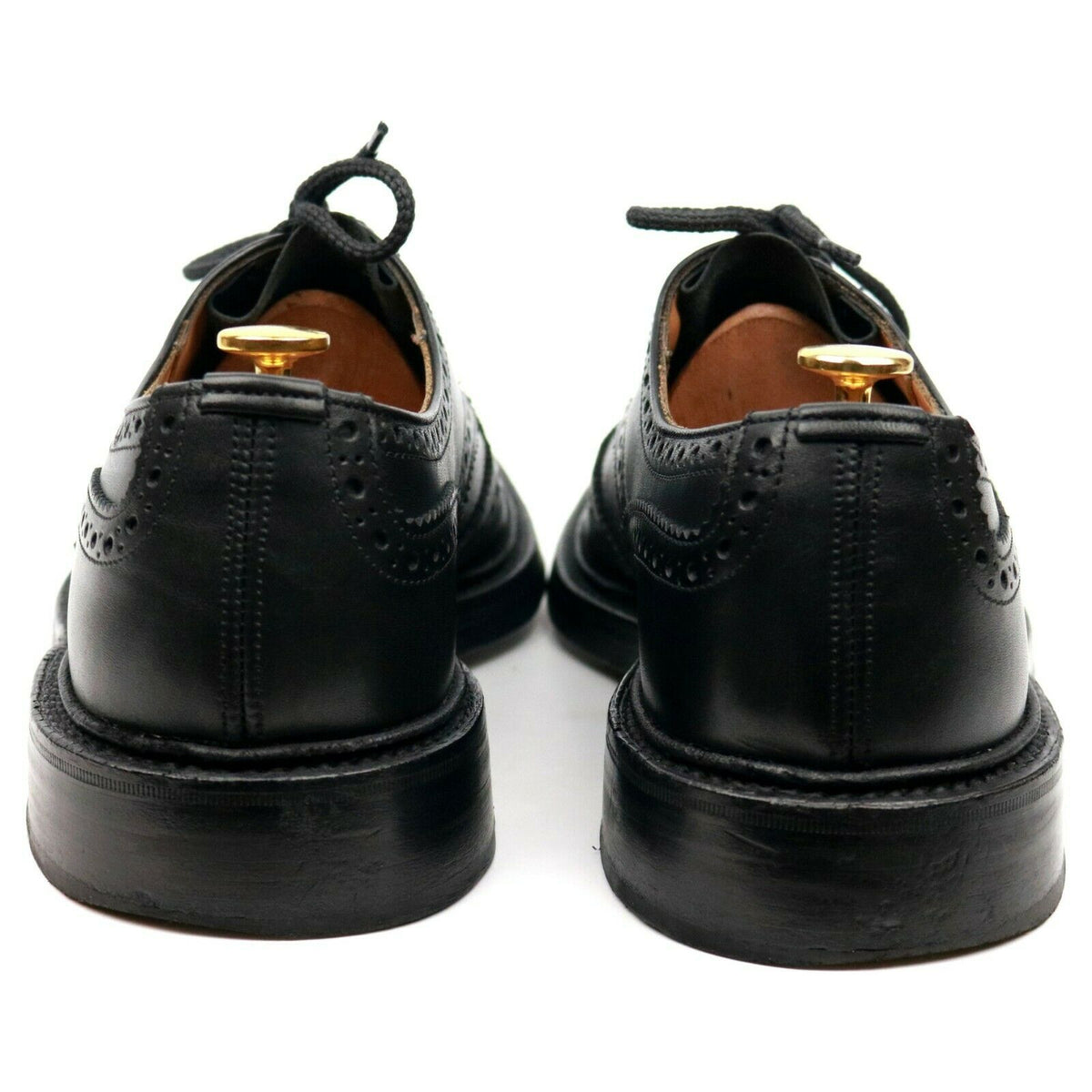 Tricker's 'Keswick' Black Leather Country Derby Brogues UK 9