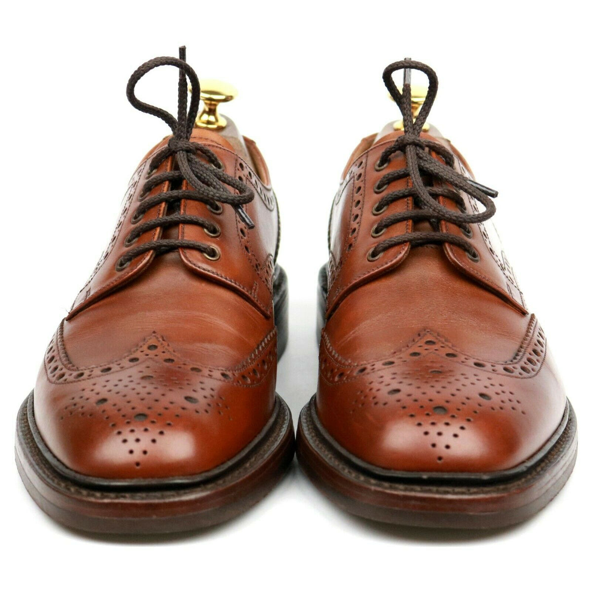 Loake 1880 'Chester' Brown Leather Derby Brogues UK 6.5 F