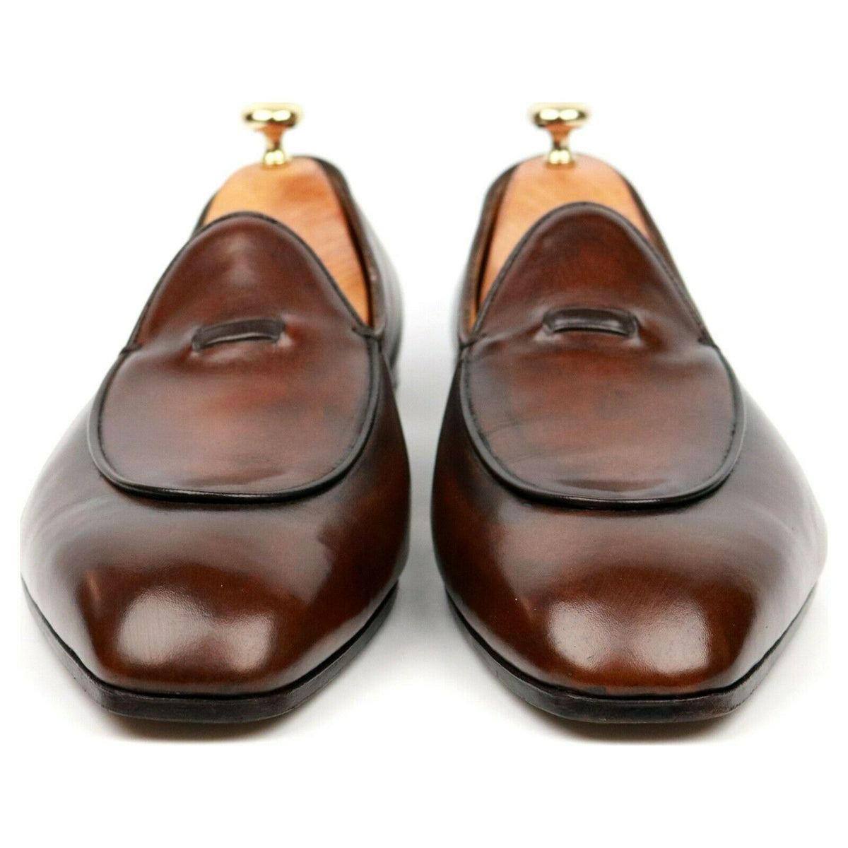 Gaziano & Girling Brown Leather Loafer Slippers UK 9.5 D