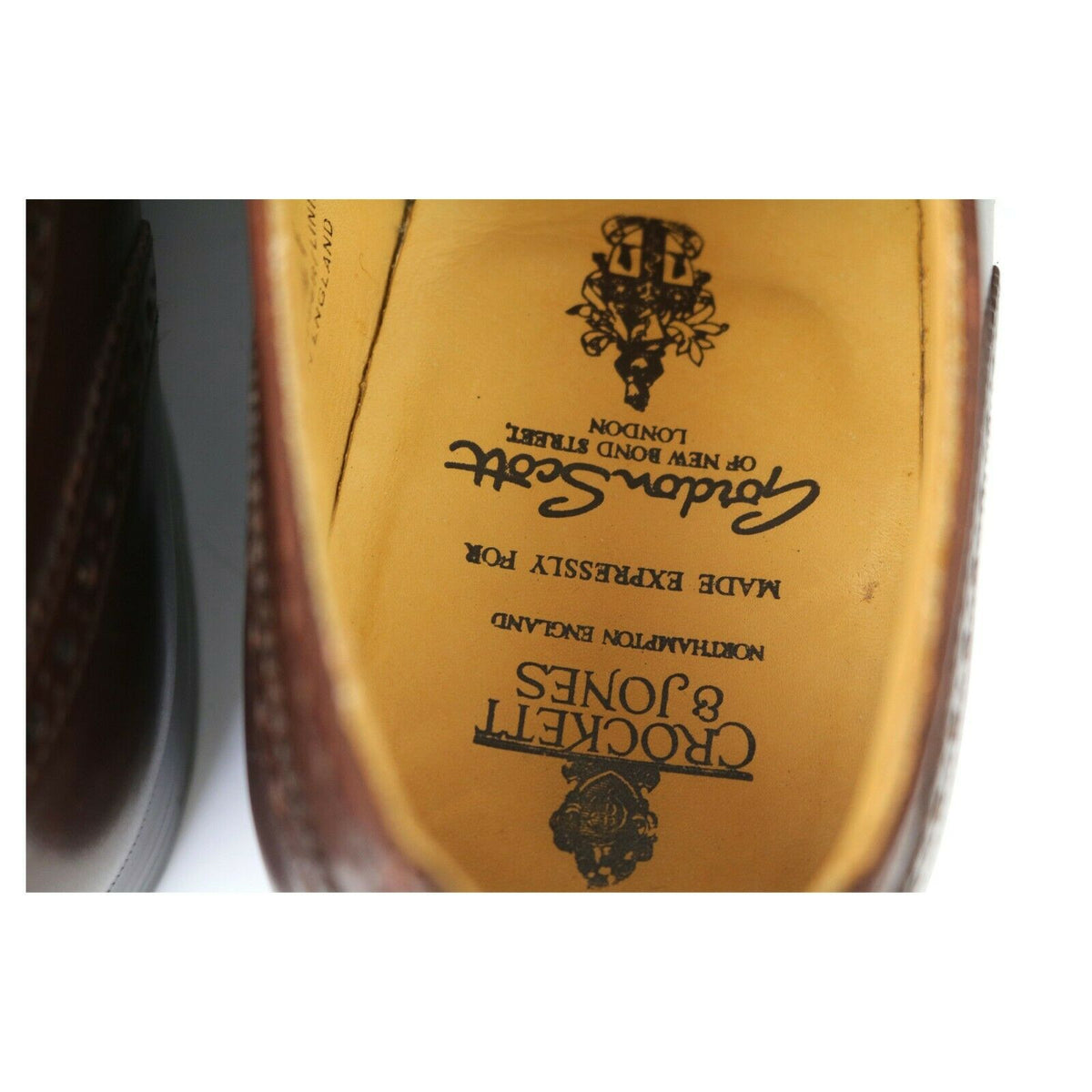 Crockett & Jones 'Plymouth' Brown Leather Oxford Brogues UK 9.5 F
