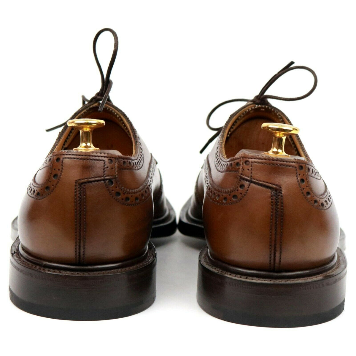Edward Green 'Ullswater' Brown Leather Derby Brogues UK 10.5 F