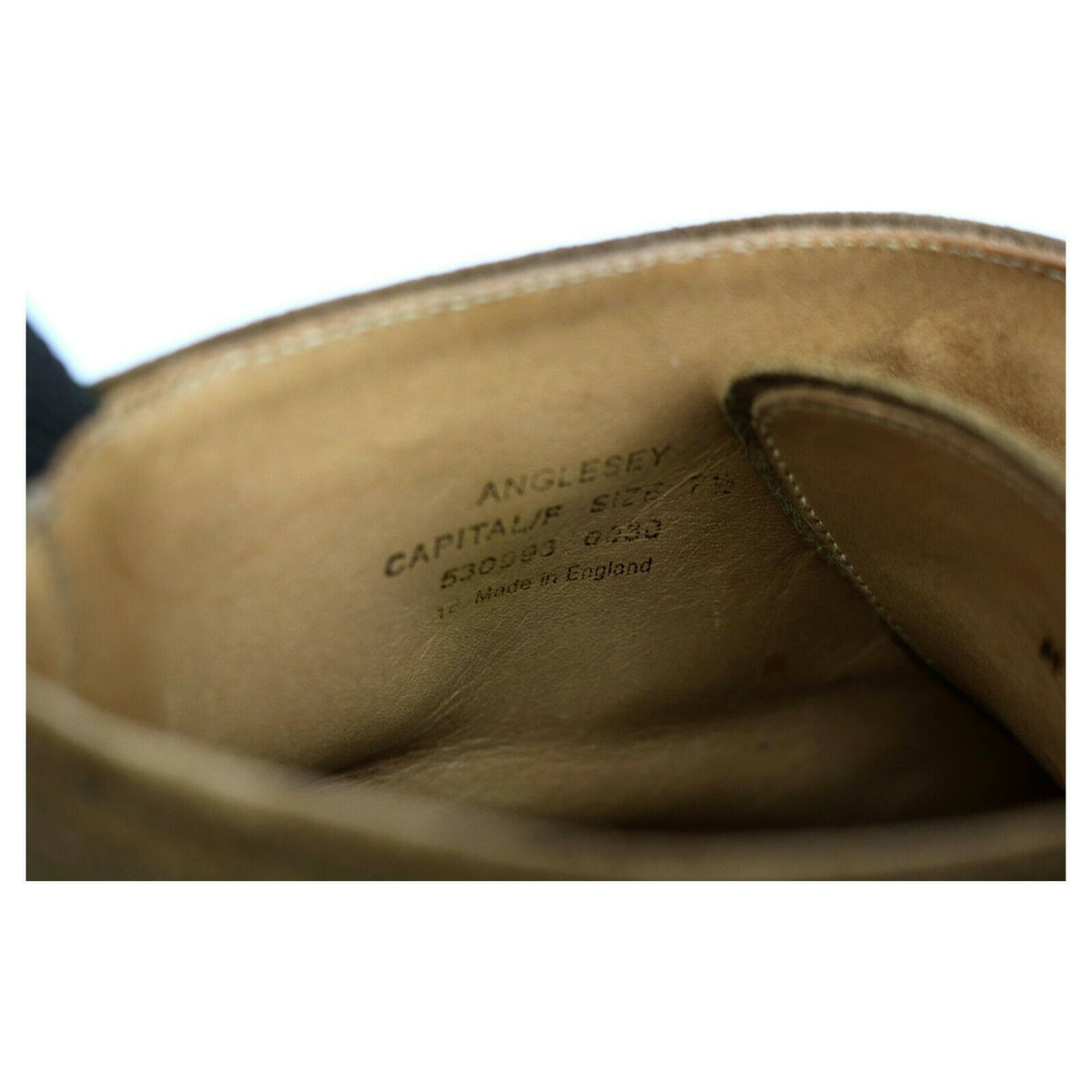 Loake 1880 'Anglesey' Tan Brown Suede Derby Boots UK 7.5 F