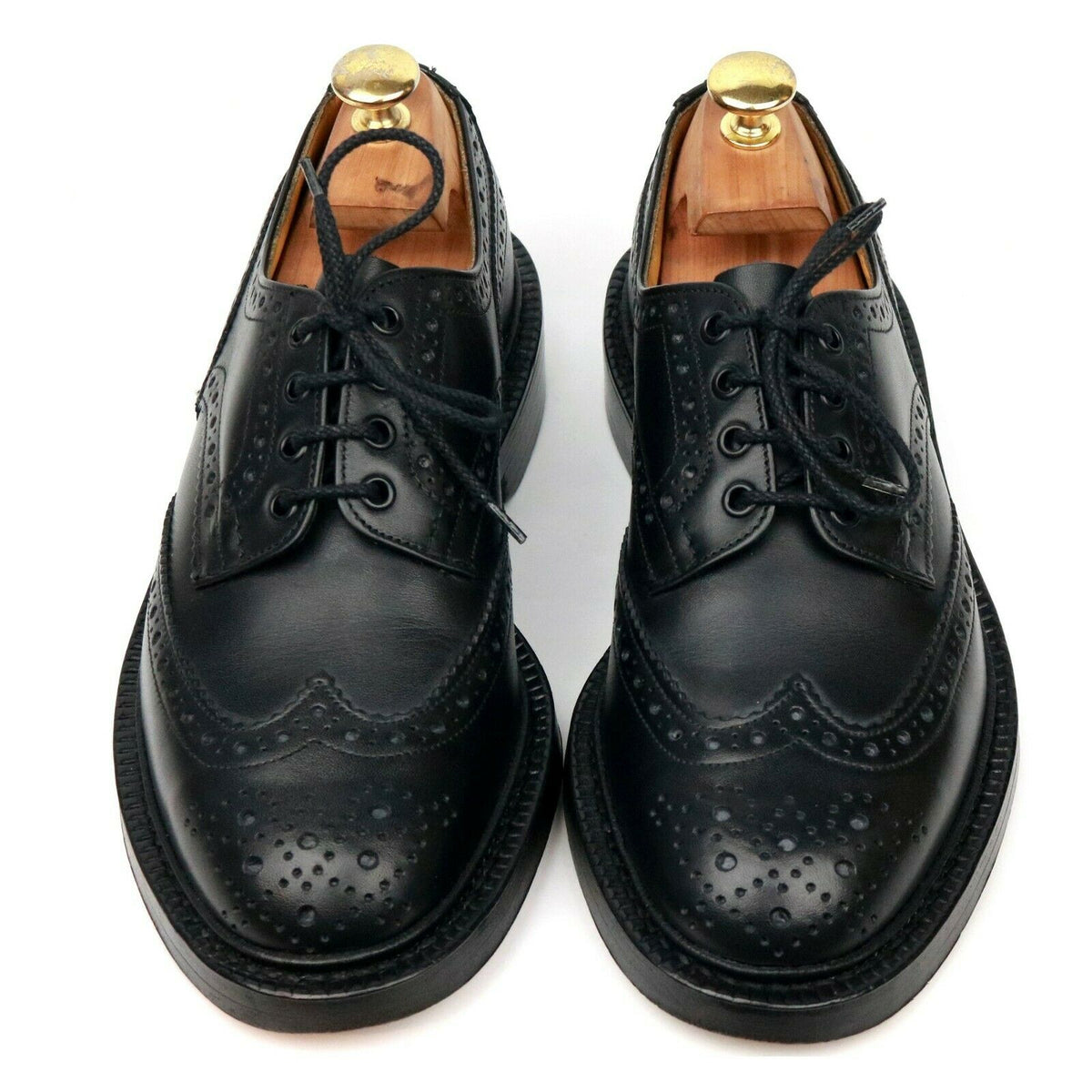 Tricker's 'Keswick' Black Leather Country Derby Brogues UK 7