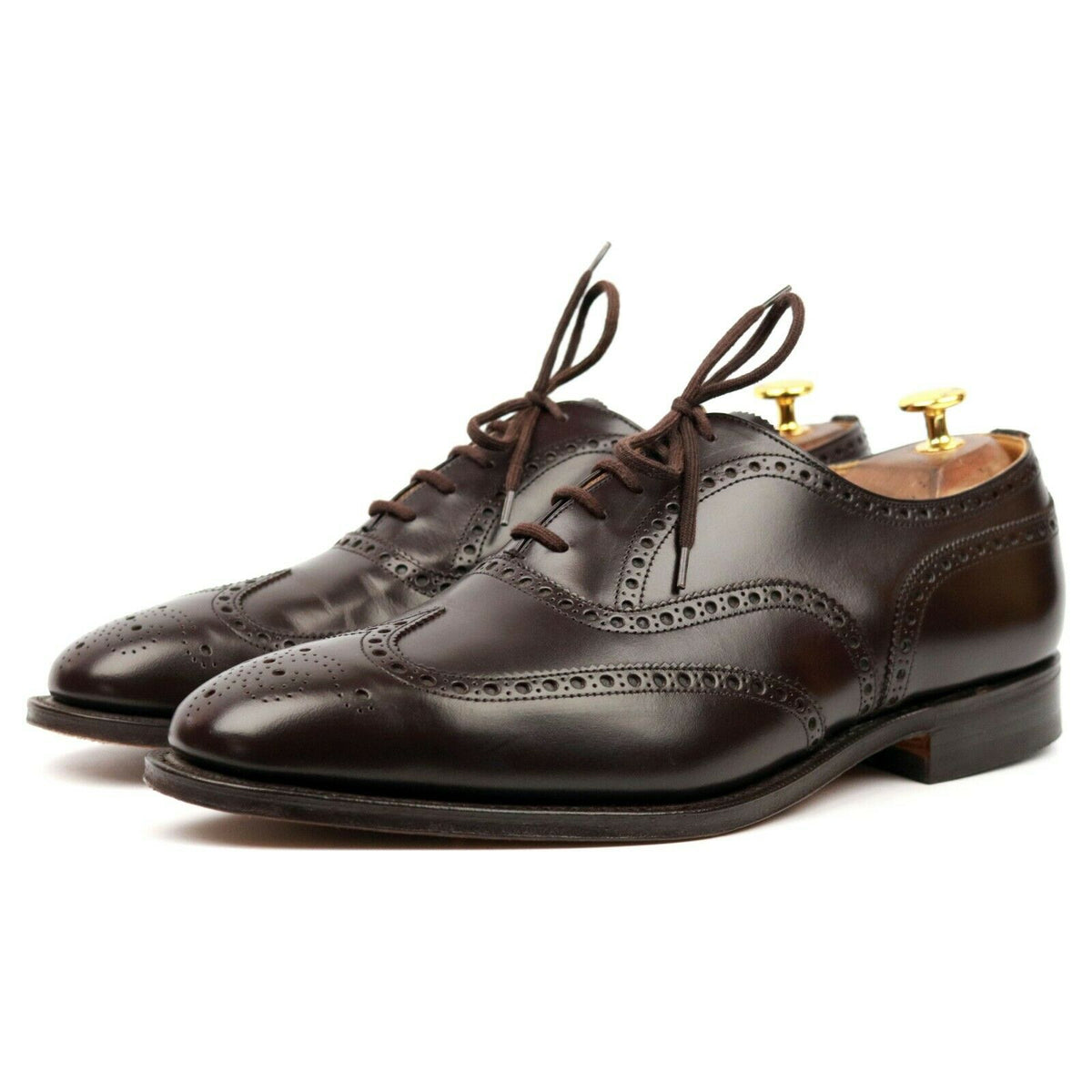 Church's 'Nene' Brown Leather Brogues UK 10.5 F