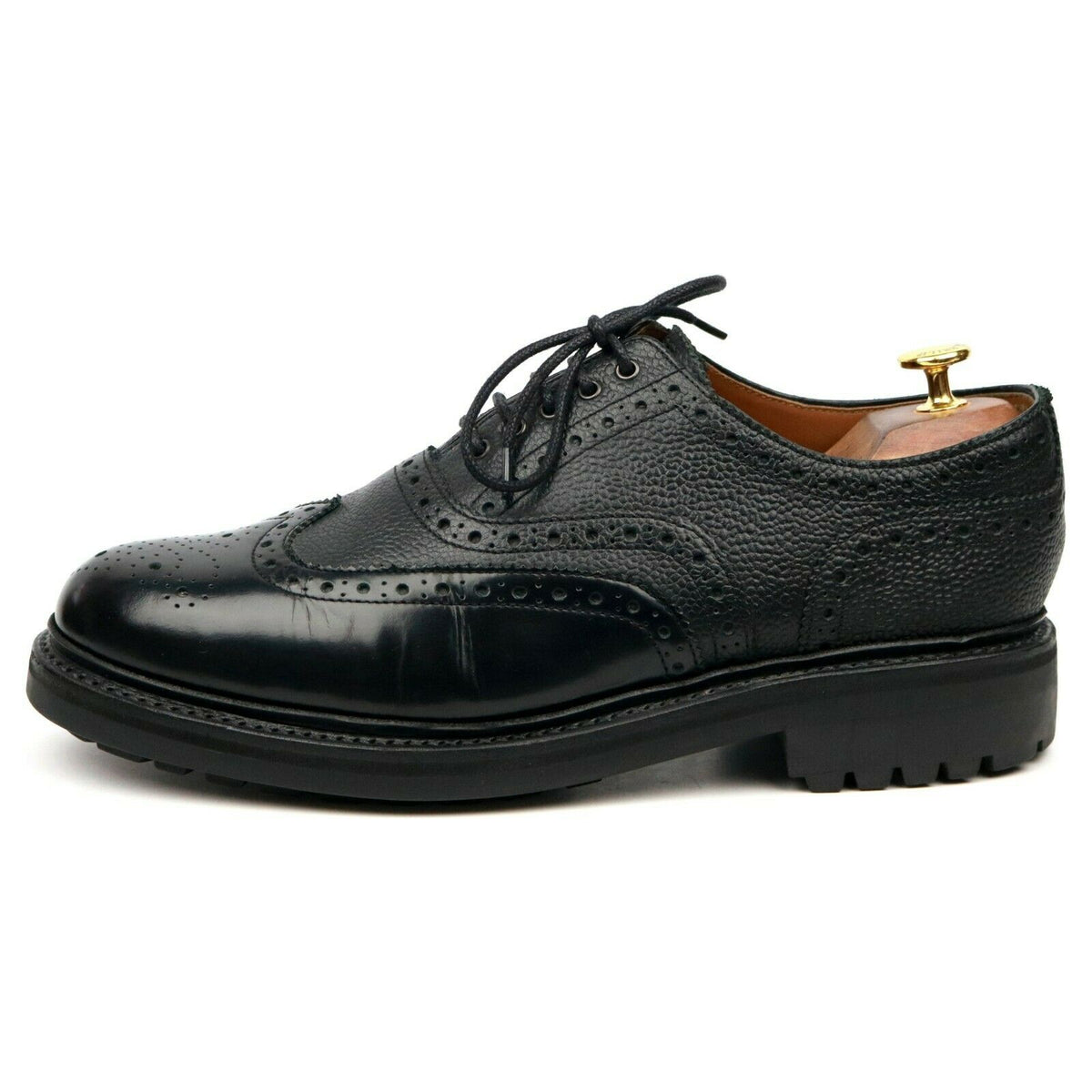 Grenson 'Stanley' Black Leather Brogues UK 10 G
