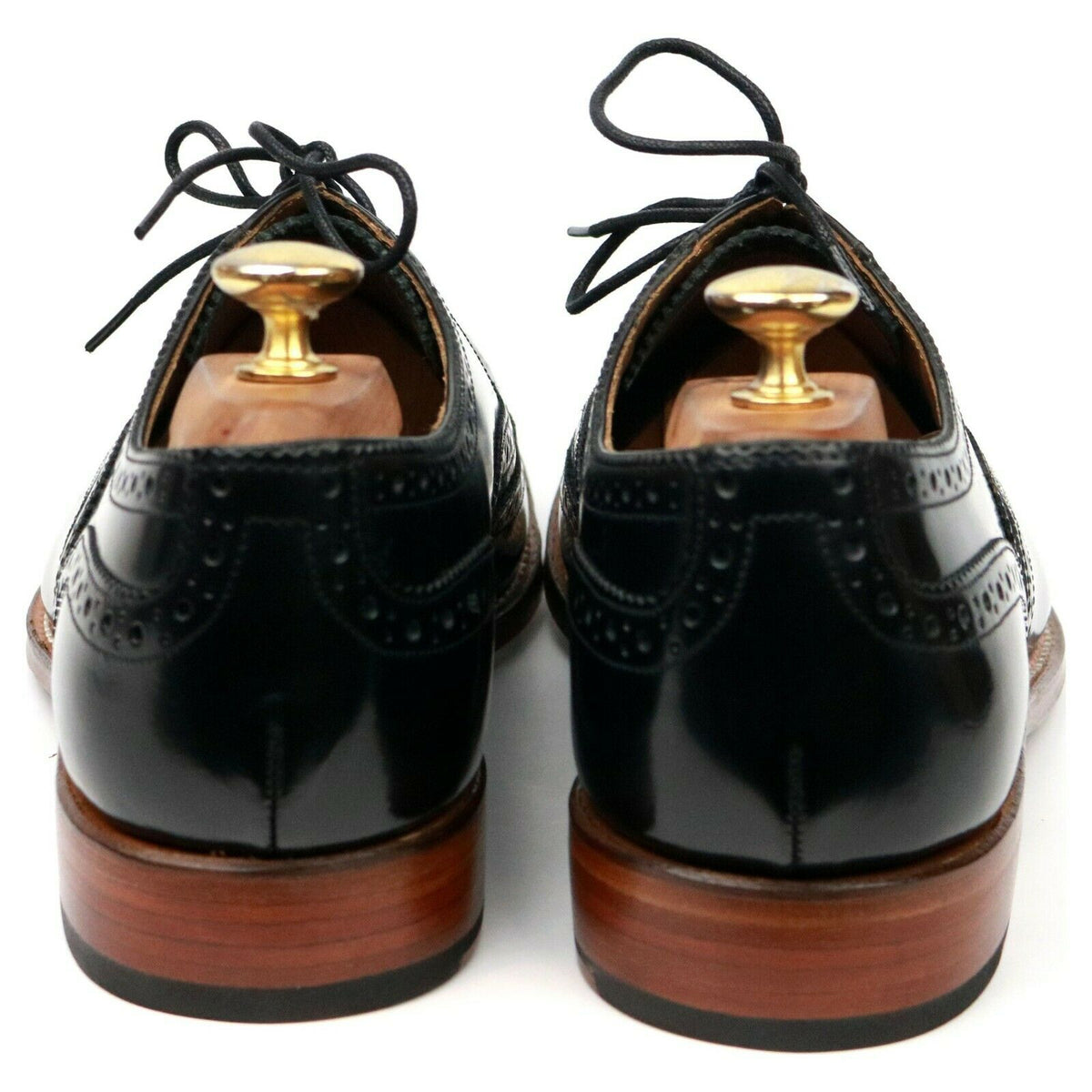 Grenson 'Dylan' Black Leather Brogues UK 9 F