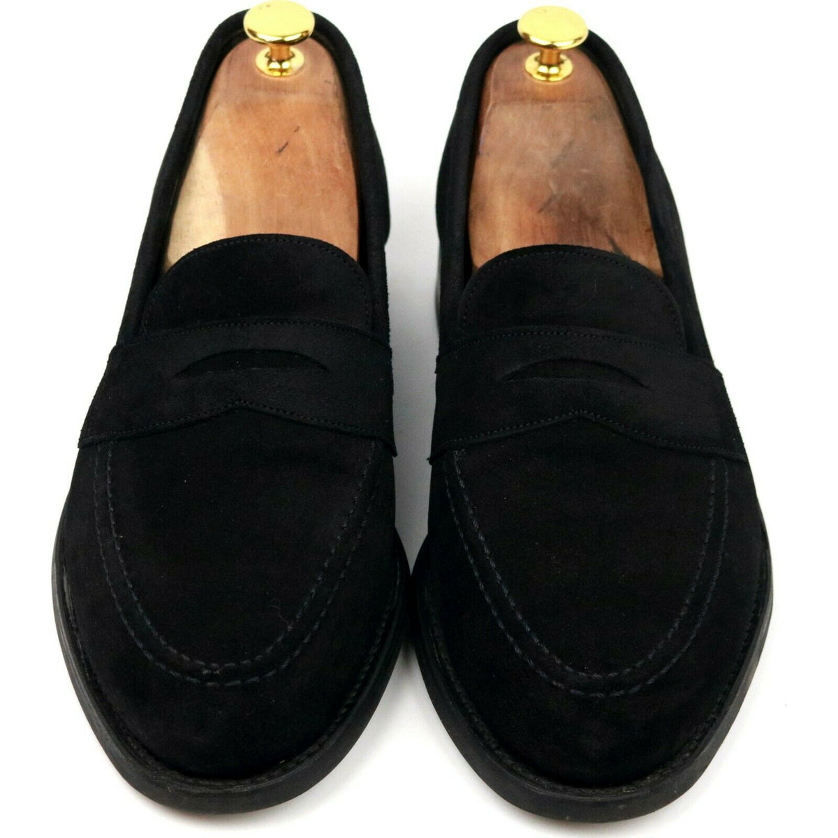 Cheaney 'Cannon' Black Suede Loafers UK 8 F