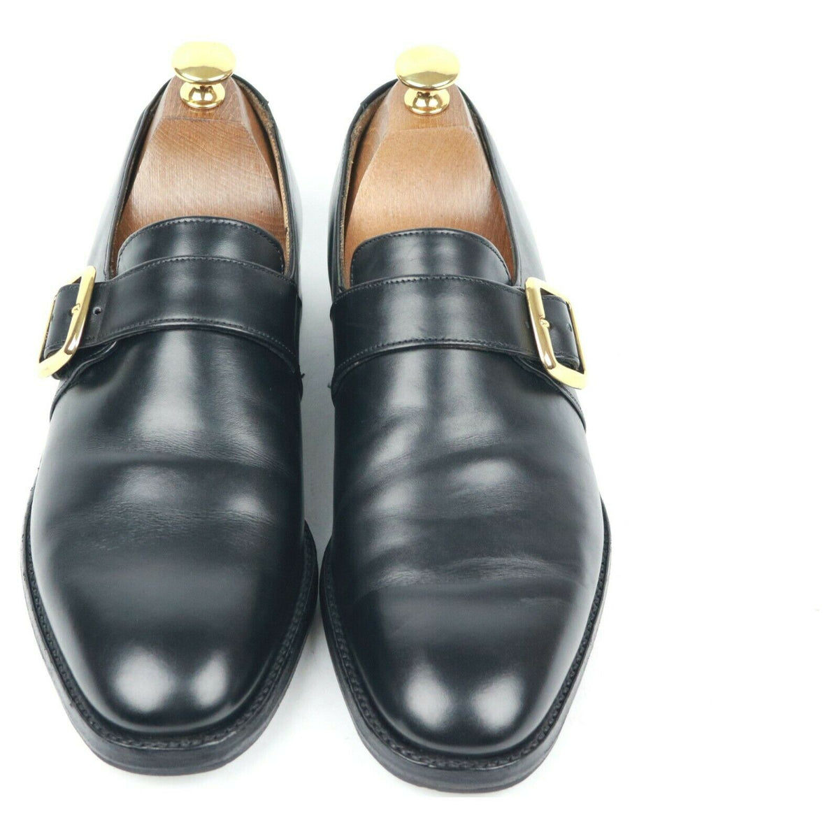 Cheaney 'William' Black Leather Monk Strap UK 6 F