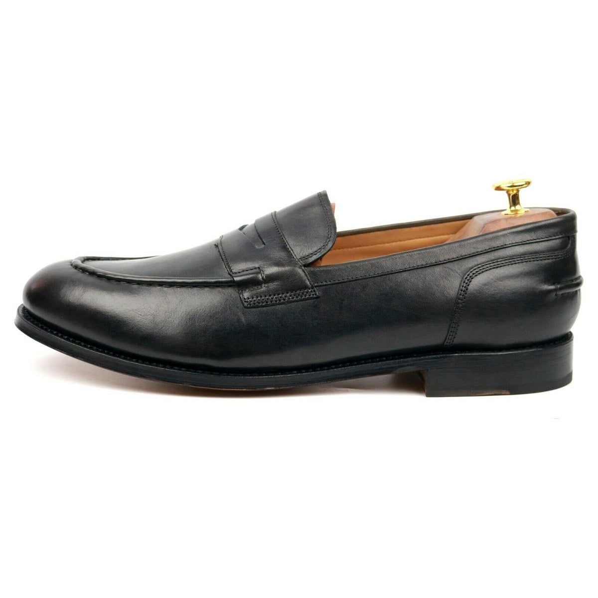Grenson 'Maxwell' Dark Grey Leather Loafers UK 11 E