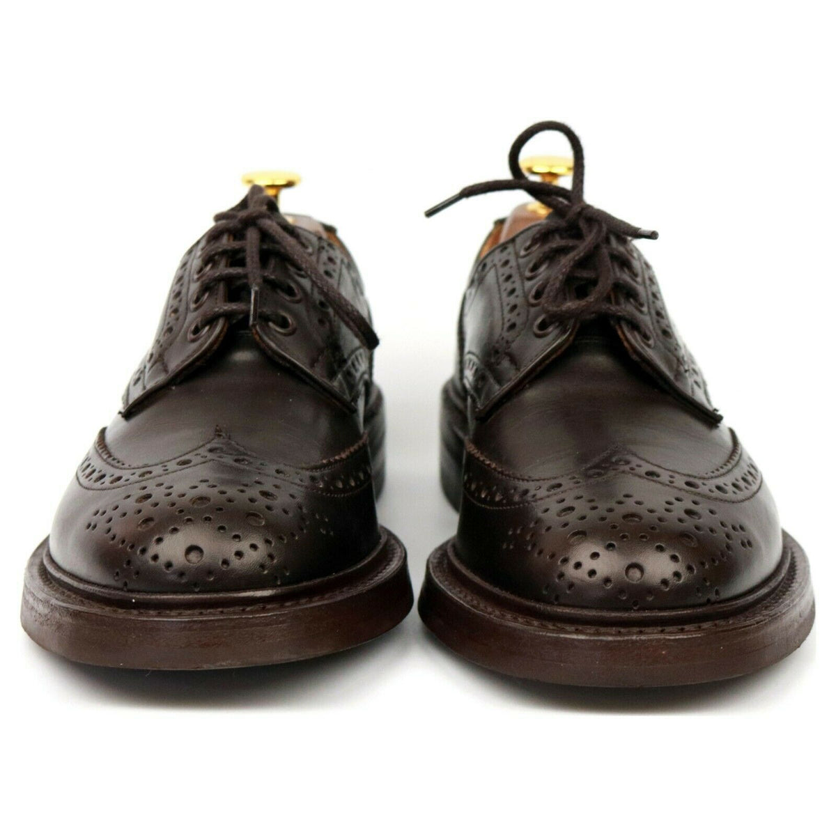 Tricker's 'Bourton' Brown Leather Country Derby Brogues UK 6.5