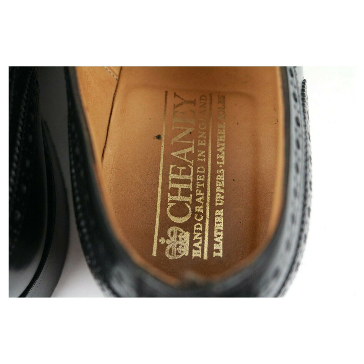 Cheaney 'Gilmour' Black Leather Brogues UK 7 F